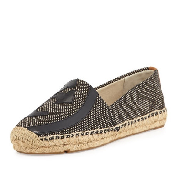pictures Tory Burch Woven Logo Espadrilles get authentic cheap online cheap great deals discount enjoy countdown package cheap price TI1Yoq